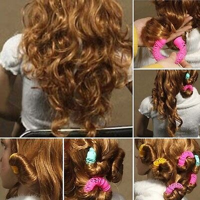 Hairdress Magic Bendy Hair Styling Roller Curler Spiral Curls DIY Tool 8 Pcs