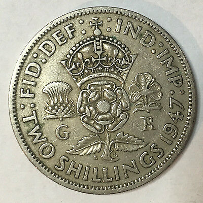 King George Vi Florin/Two Shillings - (1947-1951) - CHOOSE YOUR YEAR!