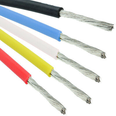 Red / Black / Blue / Yellow 16AWG Silicone Stranded 252/0.08mm Wire Cable