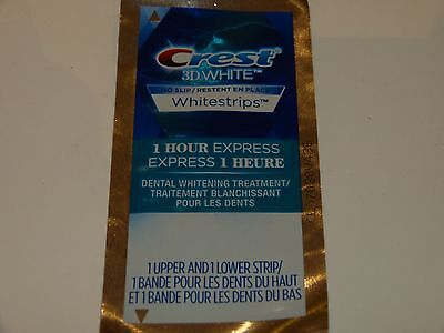 Whitestrips 1 one Hour 1 pouch (2 strips) Whitening Strips