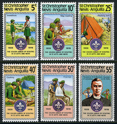 St Kitts-Nevis 370-375, MNH. Scouting, 50th anniv. Investiture, 1978