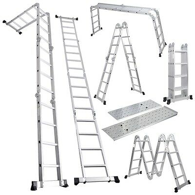 Multi Function Folding Ladder with Platform (3.56m) - GorillaSpoke for Great DIY