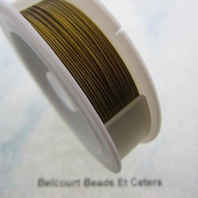 """1 Roll of Quality .018"""" (.45mm) Gold Tigertail 1x7 Strand 30 M in Length"""
