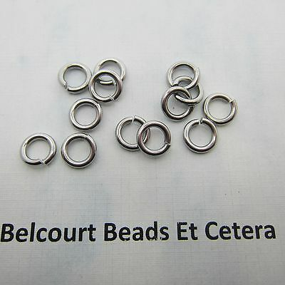 10 Stainless Steel 316 Grade Open Jump Rings Size:  8x8x1.5mm Original Color