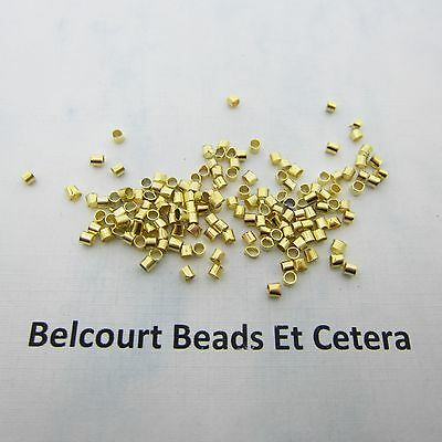 200 - Crimping Tubes -  2mm Gold Plated Crimps Crimp Tube Beads