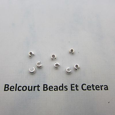 50 Sterling Silver 3mm Matte Textured  .925 Sterling Silver Crimp Bead Covers -
