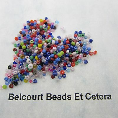 200 Gram 2mm Assorted Color Seed Beads Glass