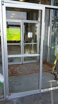 Commercial Storefront Entry Glass Door 6-0x7-0 With Panic Hardware New In Box