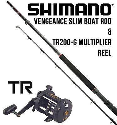 Shimano Vengeance Slim Boat Rod & TR200-G Multiplier Reel
