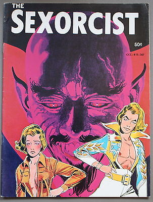 SEXORCIST #1 HORROR Mystery ADULT Cartoon Comic Mag ERNIE COLAN 1974 RARE FN/VF