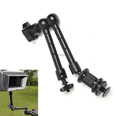 "11"" Articulating Magic Arm Clamp Crab Clip for Camera Monitor LED Light Lamp"