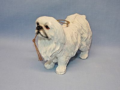 ShihTzu Dog White Resin Material Christmas Tree Ornament 3 1/2 x 2 1/2  Inch New