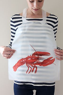Case Of 500 Disposable Plastic Lobster Bibs Free Shipping