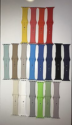 Jumbie Apple Watch Sport Band Strap Rubber/Silicone 38mm or 42mm 18 Colors