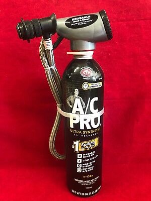 A/C PRO Professional Synthetic Refrigerant ACP-100 Leak Sealer WITH GAUGE