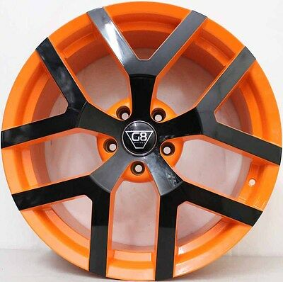 20 inch G8 Wheels- orange/ Black & New Tyres  VERY LIMITED STOCK AVAILABLE