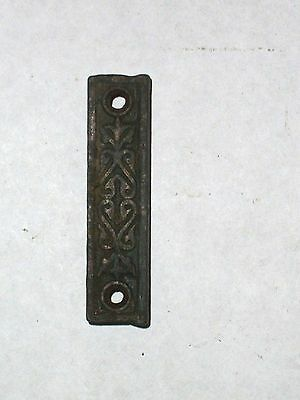 Antique Eastlake Rim Lock Strike With Ornate Design