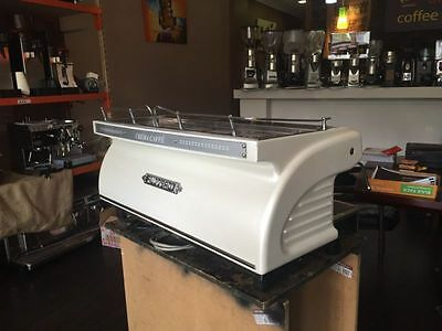 Cheap 3 Group Expobar Ruggero Commercial Coffee Machine In Pearl white