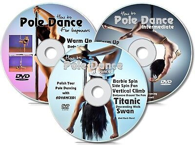 Pole Dancing Home Study 3 DVD Set | Beginner, Intermediate, Advanced | Keep Fit
