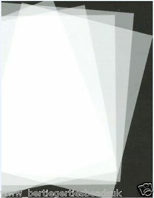 Polyester Mylar Stencil Film Re-usable Plastic A5/A4 Sheet 125mic - Various Qtys