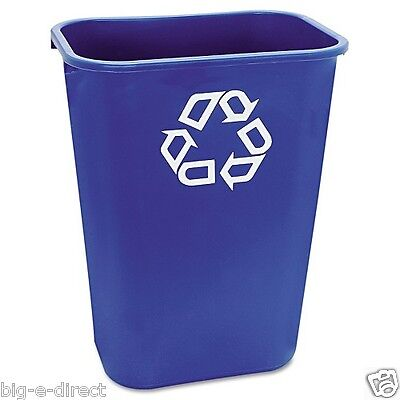 BLUE Rubbermaid Commercial Recycling Bin Large Plastic Container Can 41 1/4 qt