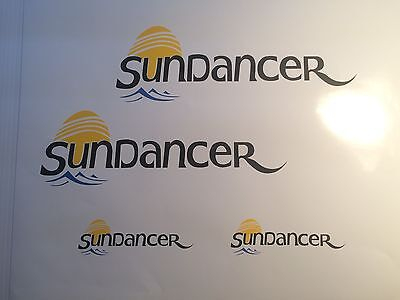 4 Sea Ray Sundancer MARINE VINYL  Sun Dancer Boat Decals  2- 24 inch 2-11x3.5