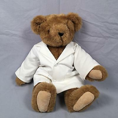 Vermont Teddy Bear Doctor Dr White Lab Coat Articulated Moving Joints 17inch