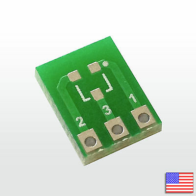3x (3pcs) SOT-23 SOT-23-3 Breakout Board PCB Adapter Converter SMD to DIP SIP