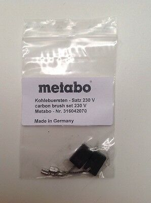 OEM Genuine Metabo Carbon Brush Set 316042070 Made In Germany