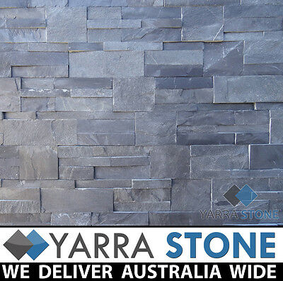 Stack Stone Wall Cladding / Stacked Stone / Natural Stone- Charcoal Stackstone