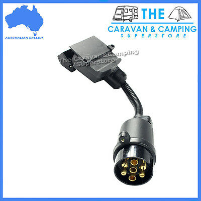 Trailer plug adapter round male to flat female caravan boat 7 pin plug connector