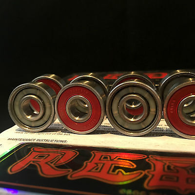 8 x Brand New BONES REDS Skateboard Bearings High Speed & Fast Postage