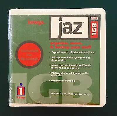 New and Sealed iomega Zip Drive 1 GB Disk Formatted For Macintosh - Free Ship!