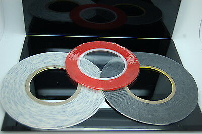 3M 1mm, 2mm, 3mm Very Strong Double Sided Adhesive Tape Sets for Mobiles, Craft