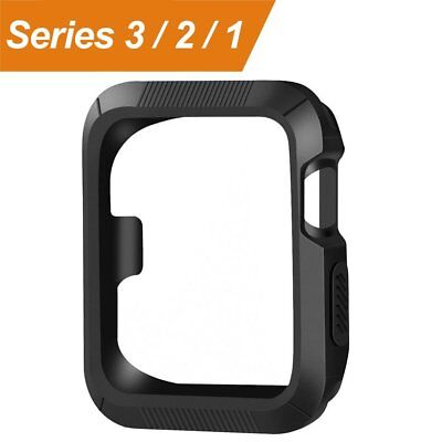 Apple Watch Case Cover Black Protector 42mm 42 mm Bumper Screen Protection New