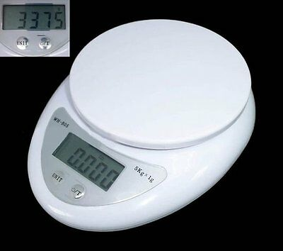 5kg 5000g/1g Digital Kitchen Food Diet Electronic Weight Balance Weighing Scale