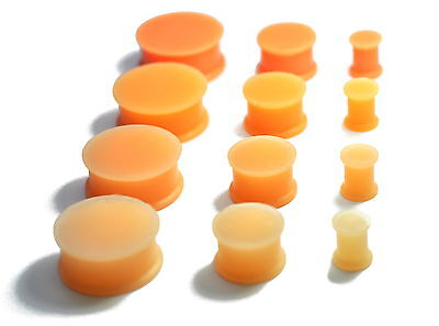 Skin Coloured Silicone Ear Plugs Piercings Expander Stretchers Hider Retainer