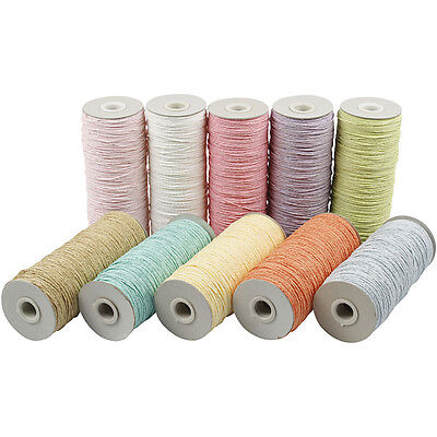 Paper Yarn - Assortment, thickness 1,8 mm, pastel colours, thin, 10x250 g
