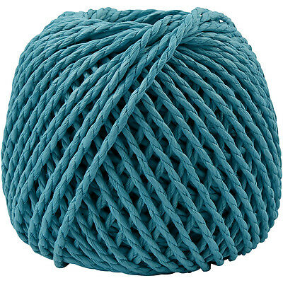 Paper Yarn, thickness 2,5-3 mm, turquoise, 150 g