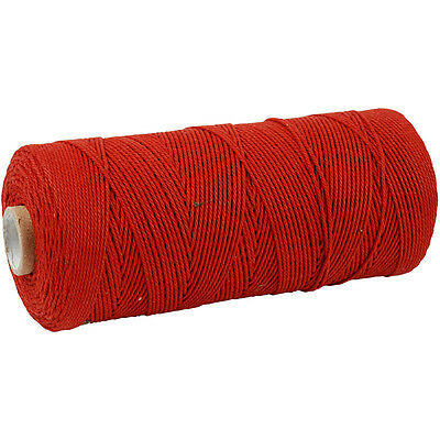 Cotton Twine, L: 320 m, thickness 1 mm, red, Thin quality 12/12, 250g