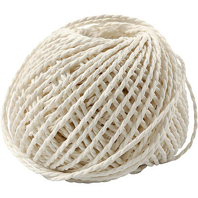 Paper Yarn, thickness 2,5-3 mm, white, 150 g
