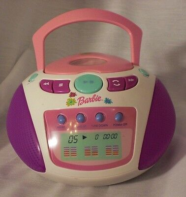 Barbie Pretend CD Player with 3 Discs (as shown in pictures)