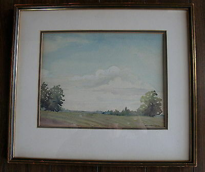 Beautiful Original Watercolor Signed By Canadian Artist W.e.carswell