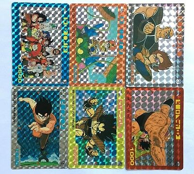 Dragon Ball Z PP Card Part 1 Prism Set 6/6