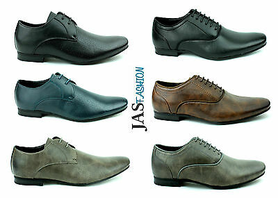 Mens Casual Lace Up Shoes Dress Smart Fashion Formal Work Office Wedding Style