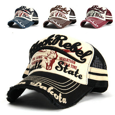 Black Rebel Embroidered Mesh Ball Cap Fashion Hat Baseball Trucker 709u