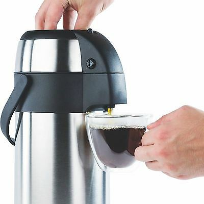 5L Stainless Steel Pump Action Airpot Vacuum Air Pot Hot & Cold Tea Coffee Flask