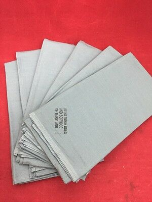 """NEW LOT OF 6 Military Green Cloth Sterilization Wrappers 24x24"""""""