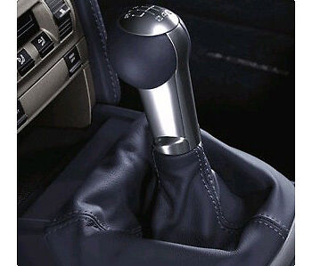 Porsche Turbo Shift Knob - Black Leather Cayman Carrera Boxster 911 997 987