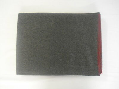 Scouts Official Badge Blanket Grey Red Trim 70% Wool 30% Mixed Fibres